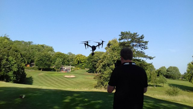Take One TV drone flying over Whiteleaf