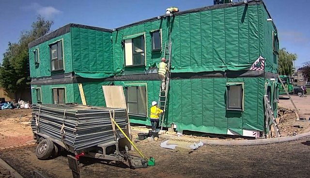 Time lapse video of Modular construction