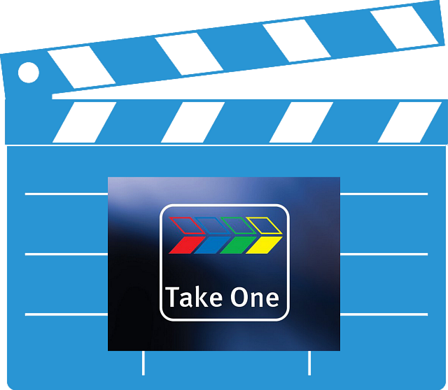 Take One TV clapperboard